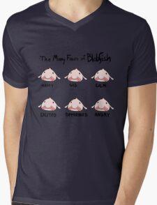 The Many Faces of Blobfish Mens V-Neck T-Shirt