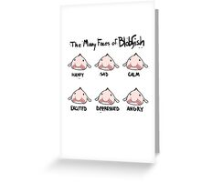 The Many Faces of Blobfish Greeting Card