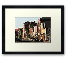 Sunny Morning, Downtown Yarmouth Framed Print