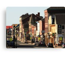 Sunny Morning, Downtown Yarmouth Canvas Print