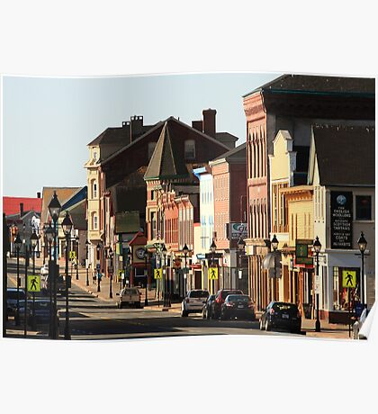 Sunny Morning, Downtown Yarmouth Poster