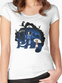 Bus Stop in Time Women's Fitted Scoop T-Shirt