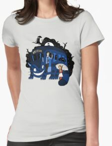 Bus Stop in Time Womens Fitted T-Shirt
