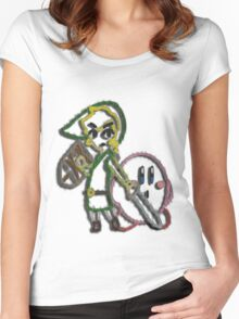 Link & Kirby's Epic Yarn Women's Fitted Scoop T-Shirt