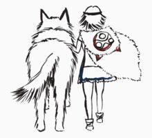 Princess Mononoke and Moro no Kimi Kids Tee