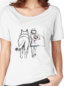 Princess Mononoke and Moro no Kimi Women's Relaxed Fit T-Shirt