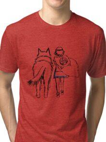 Princess Mononoke and Moro no Kimi Tri-blend T-Shirt