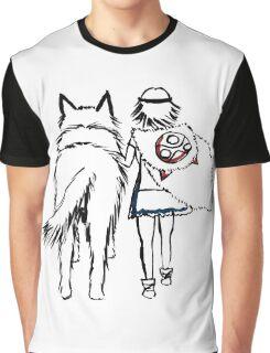 Princess Mononoke and Moro no Kimi Graphic T-Shirt