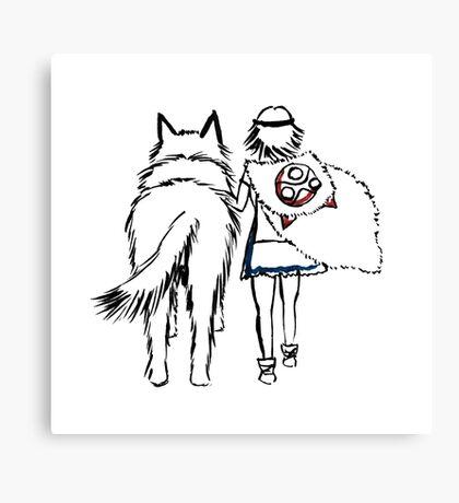 Princess Mononoke and Moro no Kimi Canvas Print