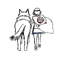 Princess Mononoke and Moro no Kimi Photographic Print