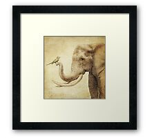 A New Friend (sepia) Framed Print