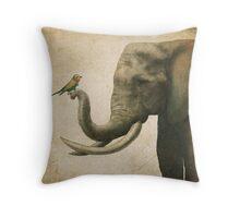 A New Friend (colour option) Throw Pillow