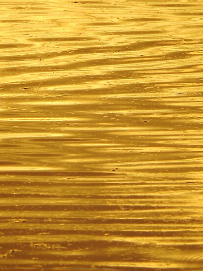Yellow Gold Ripples by lorilee
