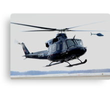 Clearing Turn, RCAF Bell 412 Canvas Print