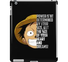 Luffy Quote iPad Case/Skin