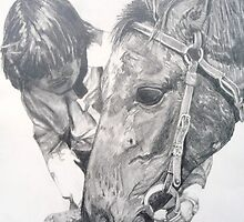 An Act of Kindness. (R M Williams' horse Dusky) by FrostClayton