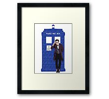 The Doctor and TARDIS Framed Print
