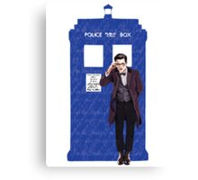 The Doctor and TARDIS Canvas Print