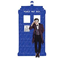 The Doctor and TARDIS Photographic Print
