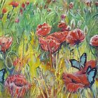 Poppies and Butterflies, remembrance and new beginnings by FrostClayton