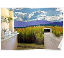 Open rural kitchen Poster