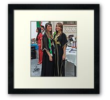 Algerian Traditional Fashion Framed Print