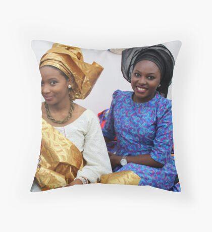 African Beauty Throw Pillow