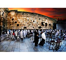 Wailing Wall, Old City, Jerusalem, Israel  Photographic Print