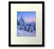 Evening Snowscape Framed Print
