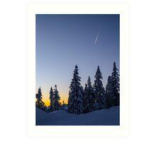 Alpine Evening Snowscape Art Print
