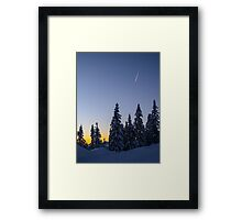 Alpine Evening Snowscape Framed Print