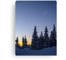 Alpine Evening Snowscape Canvas Print