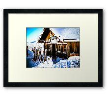 Ski Hutte Framed Print