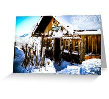 Ski Hutte Greeting Card
