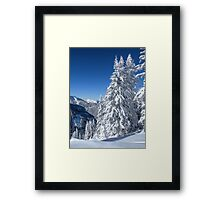 Alpine Mountain Snowscape Framed Print