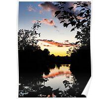 River Sunset Berkshire England Poster