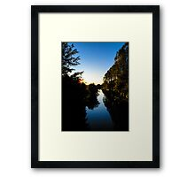 Canal Sunset Berkshire England Framed Print
