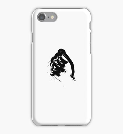 A // Black on White iPhone Case/Skin