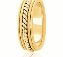 Pave diamond wedding band and his and hers rings by weddingbands25
