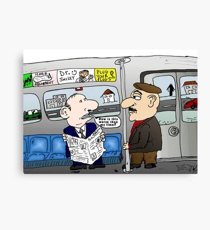 The Limo Train Cartoon Canvas Print