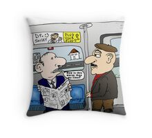 The Limo Train Cartoon Throw Pillow