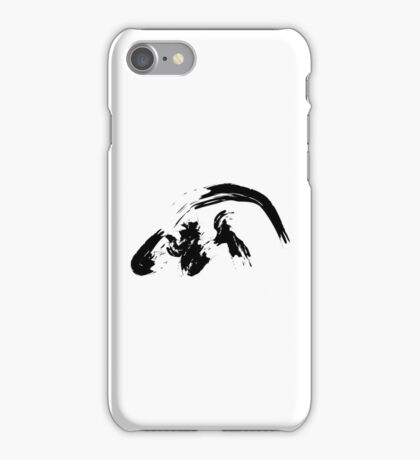 Q // Black on White iPhone Case/Skin