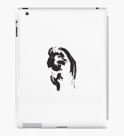 X // Black on White iPad Case/Skin