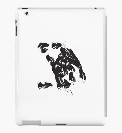 Z // Black on White iPad Case/Skin