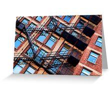 Red bricks facade Greeting Card