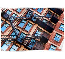 Red bricks facade Poster