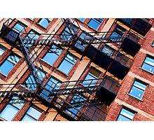 Red bricks facade Photographic Print