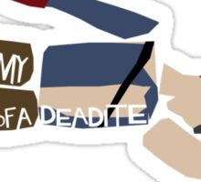 Anatomy Of A Deadite Sticker