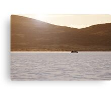Ford Hot Rod on the salt at full throttle Canvas Print