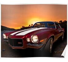 71 Z28 Camaro Tribute the Muscle Car I'd choose for a midnight cruise Poster
